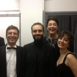 Backstage with Alessandro Quarta and Francesca Aspromonte and Luca Carvoni