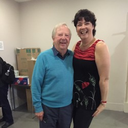 With Gorgeous Goody, Tim Brooke Taylor during rehearsals of HMS Pinafore